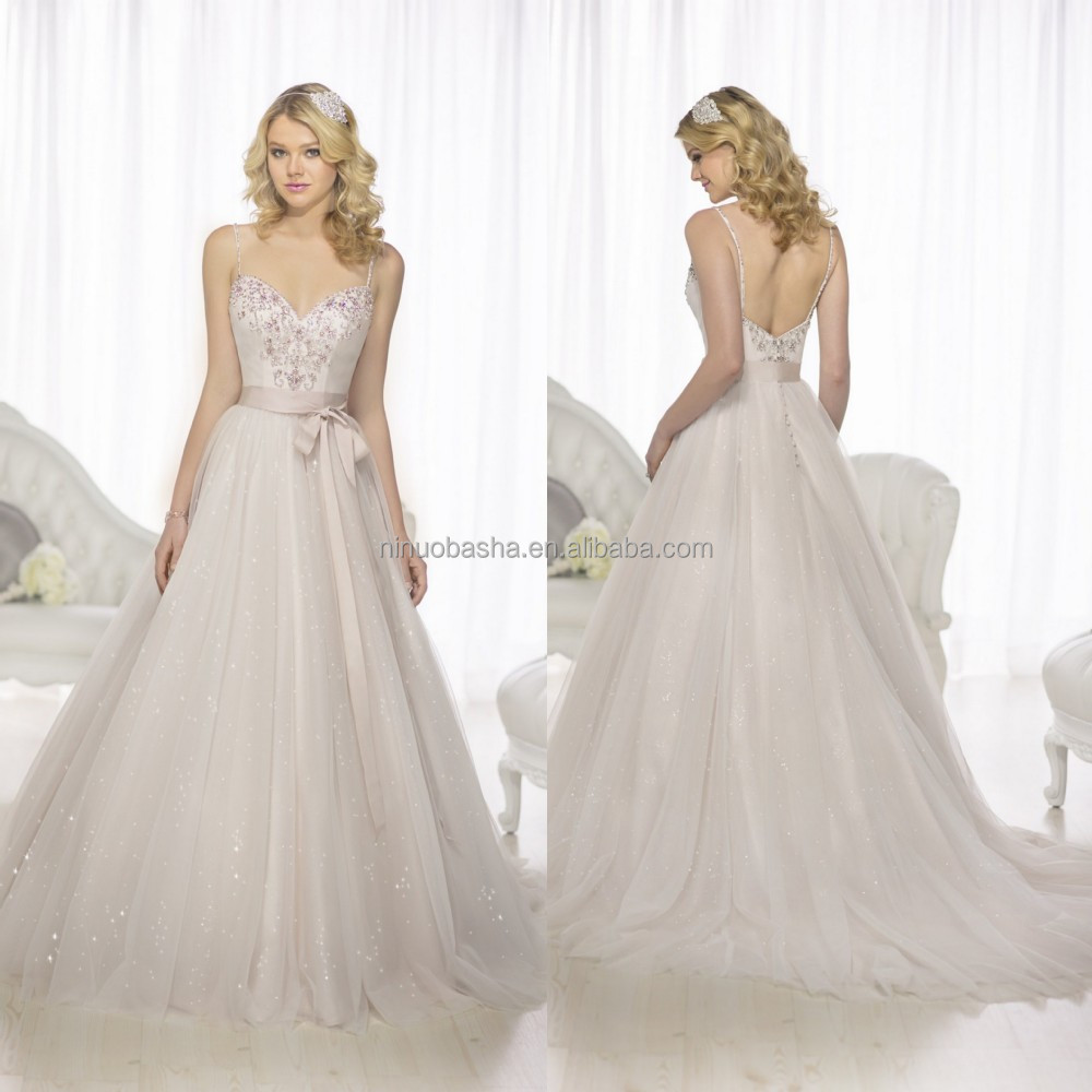 2015 chic a line wedding dress with sweetheart neckline for Sweetheart wedding dress with straps