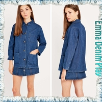 Garment Factory Womens Three Pockets Design Denim Jacket