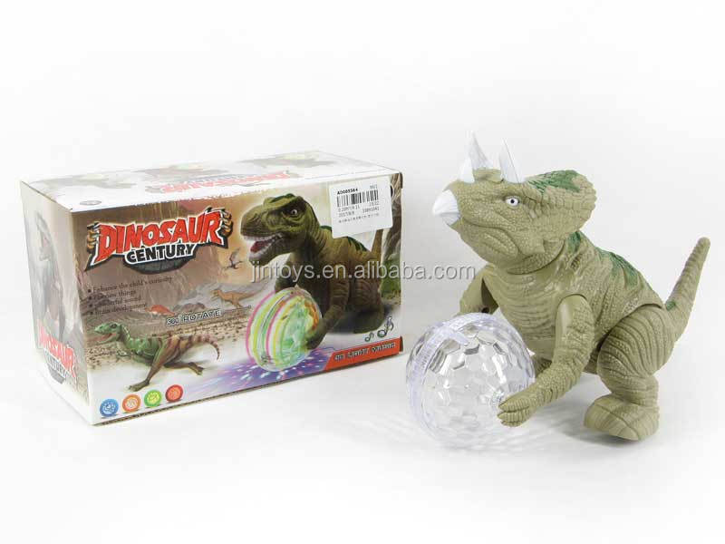 Electronic Shinning Walking Dinosaur with Lighting Ball Electronic Dinosaur Toy Toys with Music and Light