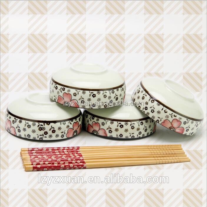 Wholesale ceramic household items ceramic dinnerware and branded chopsticks