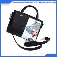 Fashionable Inkjet Print Tote Bag Handbag High Quality Cute PU Leather Shoulder Bag for Women