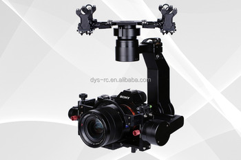 DYS aerial gimbal Saga with 32bit AlexMos controller and encoder for Sony A7S & Panasonic GH4