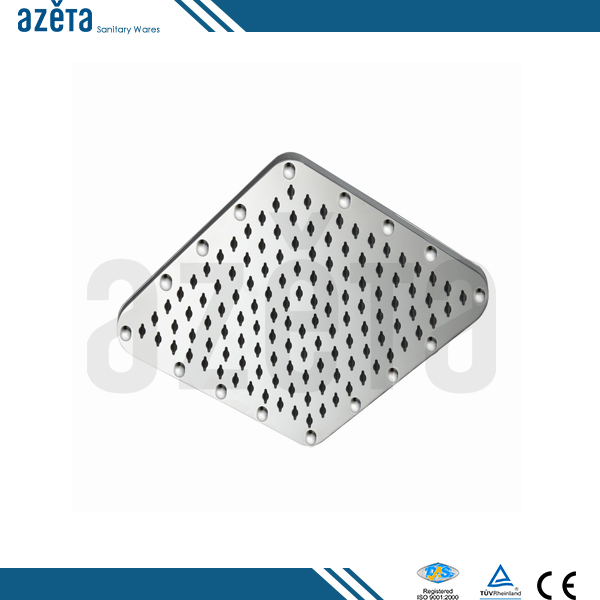 China Manufacture Squared Stainless Steel Rain Shower Head