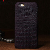 for iPhone 6 Crocodile Alligator Skin slim back mobile phone case Cow skin Cover Genuine leather case for i6