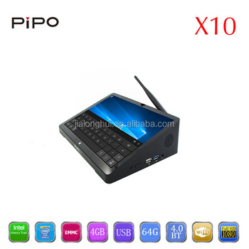 2017 New chip Pipo X10 Intel Quad Core 4g Ram 64g rom Latest Dual Os Mini Pc,also PIpo x9 in stock