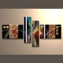 100% handmade Abstract Modern Wall Decor Canvas Diy Set Oil Painting