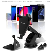 2018 New Trending Products Usb Fast Charger Qi Wireless Charger Portable Plate Pad Car Mount Mobile Phone For Samsung Iphone 8