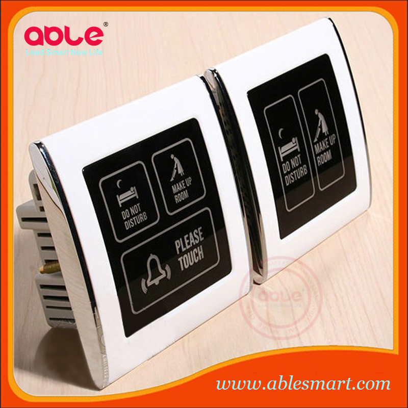 220V 110V 12V Hotel touch screen led wireless doorbell