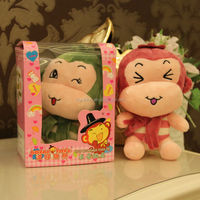 MABZ-352 electric voice repeating monkey / voice speaking soft monkey toy