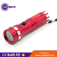 CE RoHS certification ultraviolet professional testing uv flashlight 14 led