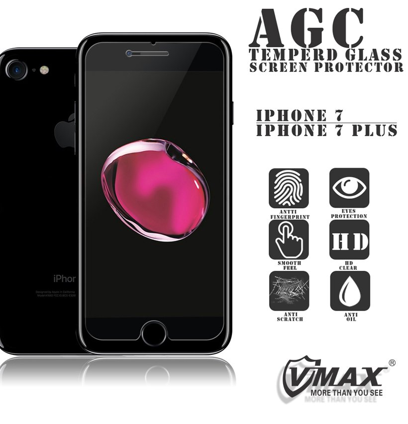 High transparant 0.26mm ultra thin anti blue light anti scratch 9h hardness tempered glass screen protector for iPhone 7 Plus