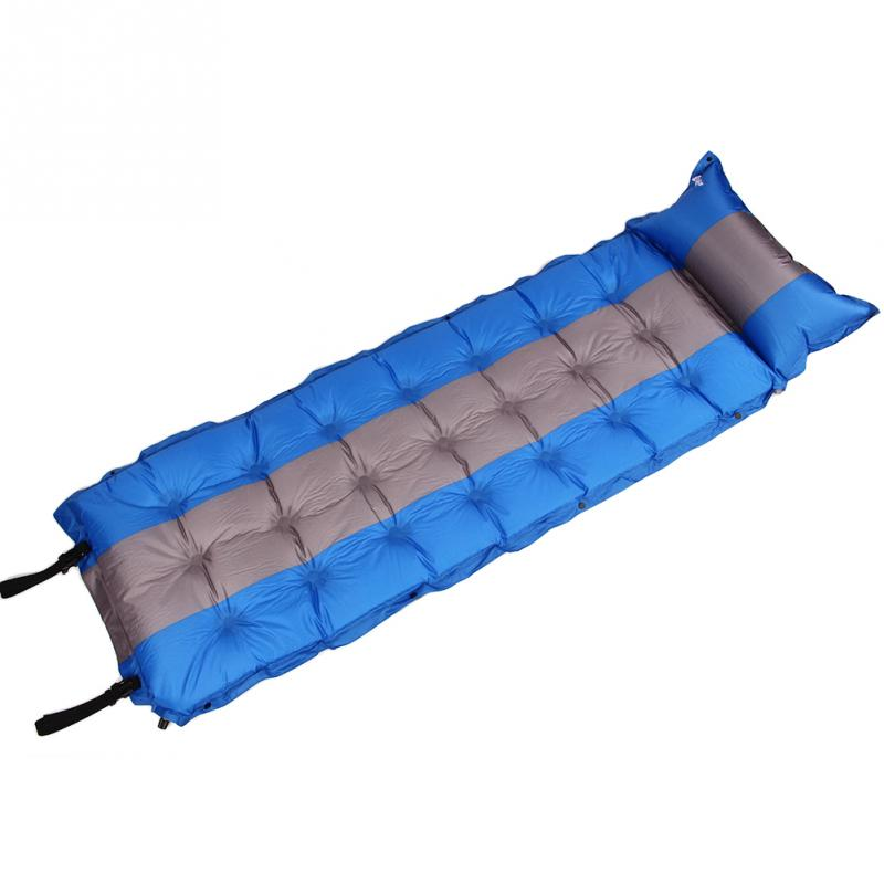 Outdoor Self Inflating Sleeping Pad Camping Air Mattress Inflatable Mattress Automatic Inflatable Air Mat Camping Bed Mat Pillow