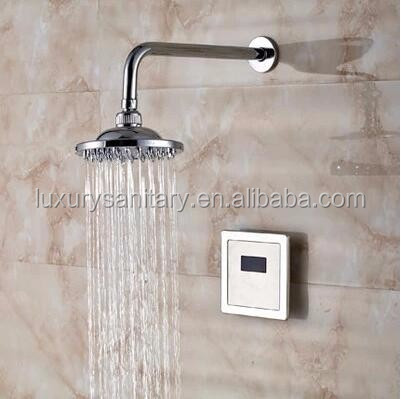 automatic brass sensor inwall bathroom shower set hidden concealed rainfall Bath & Shower Faucets