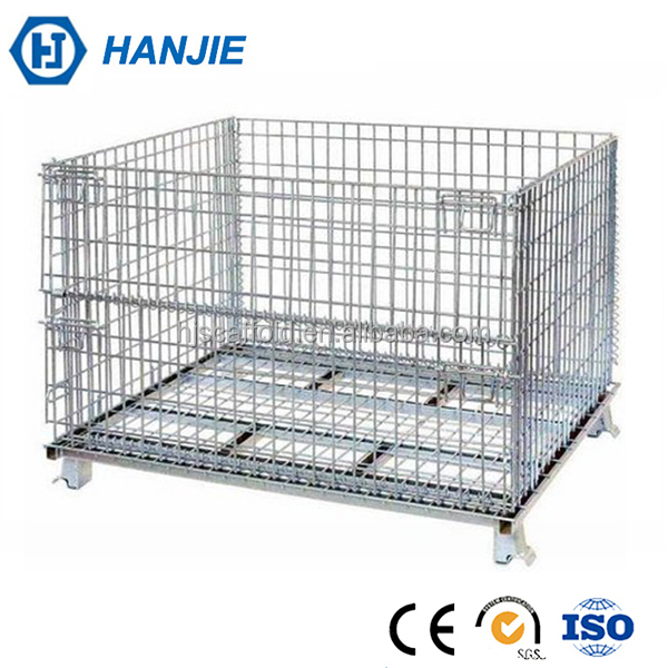 Metal welding storage container foldable wire mesh cages wholesale