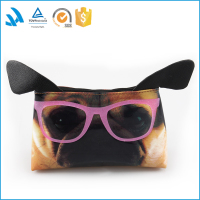 Wholesale cute dog mini shiny cosmetic bag