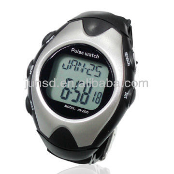 Professional finger sensor heart rate monitor watch with waterproof structure