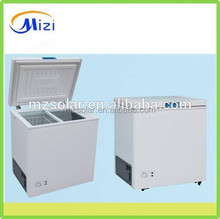 208L DC solar chest freezer glass top chest freezer