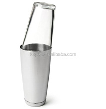 Classic Boston Cocktail Shaker Stainless Steel with Mixing Glass
