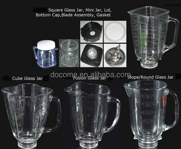 Hot sell of replacement parts soda-lime material of blender glass jar