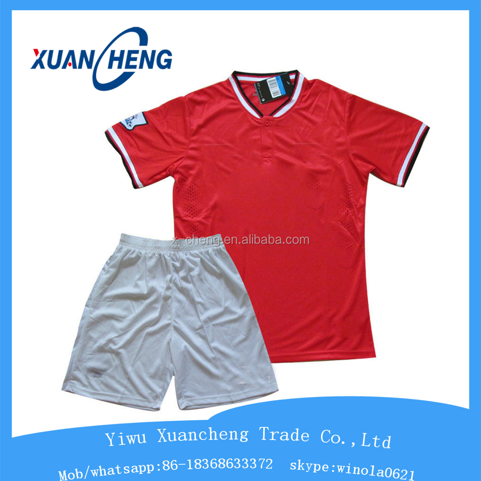 hot sale latest official design soccer jersey kits, soccer wear sets, team soccer uniform