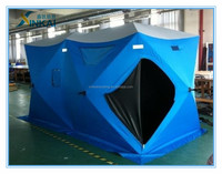 Customized two room FR/cold resistant ice fishing shelters