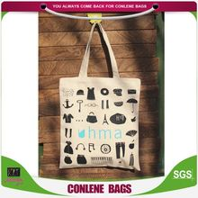 Best seller high capacity foldable recycled organic cotton bags with logo