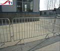 Steel galvanised pedestrian barricade/road steel barrier