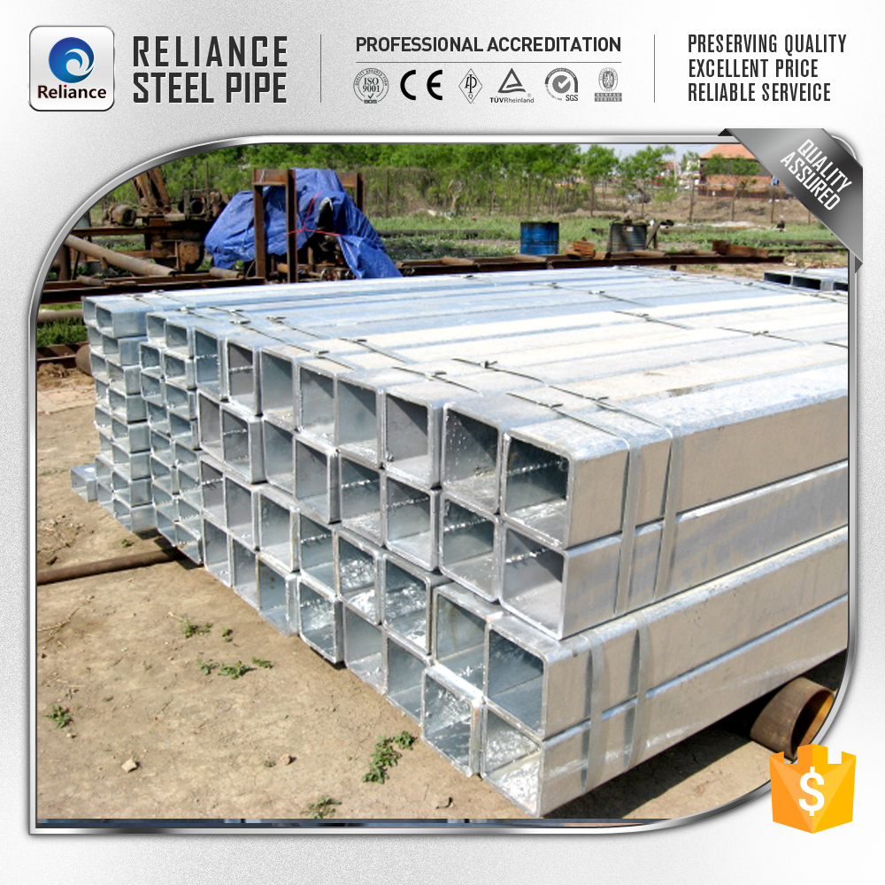 RAW STEEL SQUARE GALVANIZED STEEL CONDUIT CHINA ASIA TRADING
