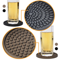 RENJIA silicon rubber wine glass coaster wholesale blank coasters set for drink custom silicone coaster