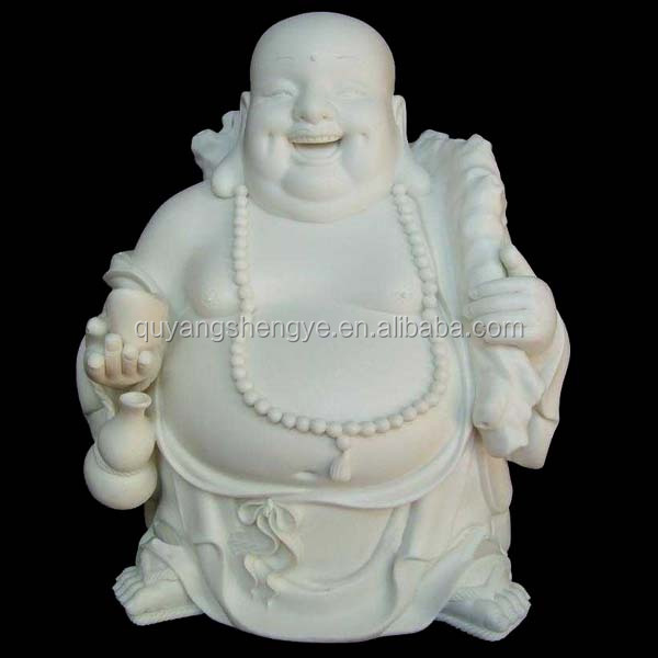 natural stone laughing buddha figures