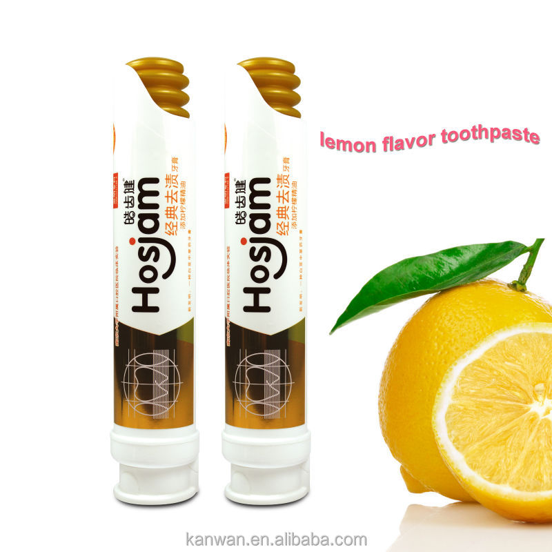 lemon flavor fresh refresh stain removing anti inflammatory toothpaste