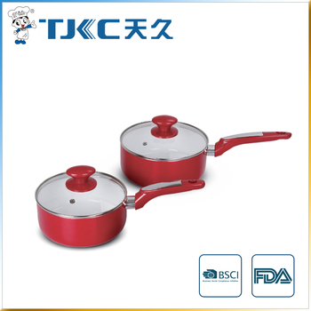 Ceramic Sauce Pan with Glass Lid and New Style Handle