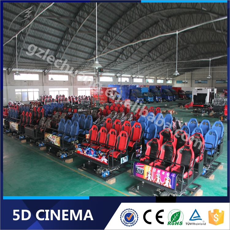 High Technology China 3D 4D 5D Cinema With Thilling Motion Platform