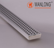 304 Stainless steel Hidden Bathroom Decorative Long Floor Drain WLFD005