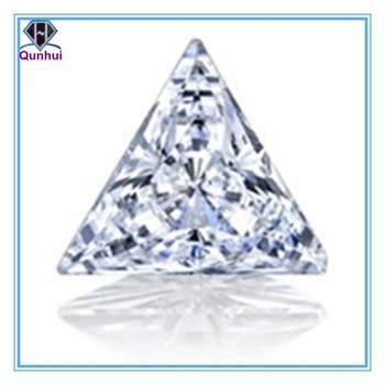 shining white triangle shaped cubic zirconia