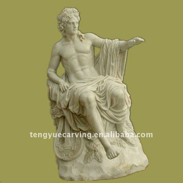 Outdoor Roman Stone Apollo Sculpture
