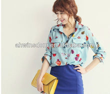 2013 NEW FASHION EUROPE LATEST DESIGN FANCY DESIGN LADIES BLOUSES