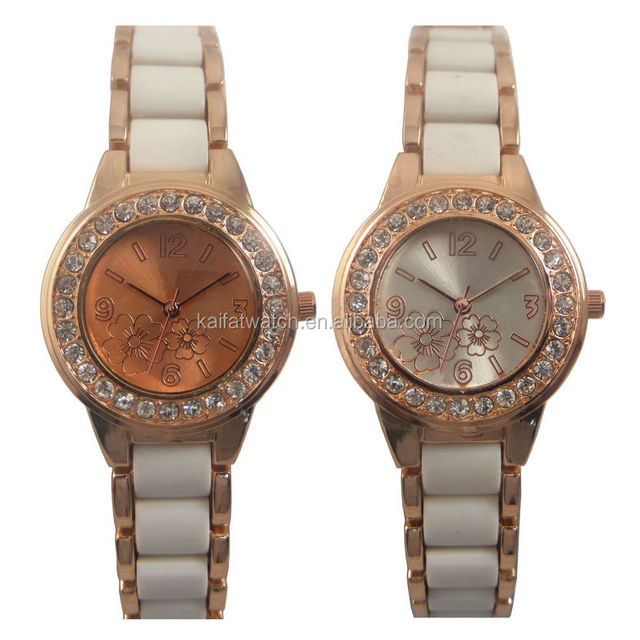 epoxy band trending hot products fancy ladies crystal bezel watch