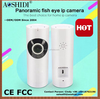 New Product Smallest Wifi IP Camera 720p Panorama View Baby Cam ,Panorama View Fisheye Wifi IP Camera