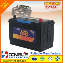 65d31l 12V 70Ah Toyota Hybrid Car Battery for Sale