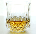 Haonai 220ml round diamond emboss whisky glasses