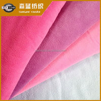 100% polyester polar fleece two-side brushed one-side anti-pilling fabric