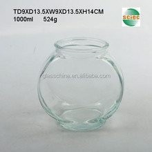 1L Large Clear Glass Fish Bowl