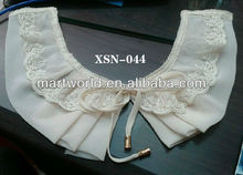 chiffon lace neck designs pictures of blouse(XSN-044)
