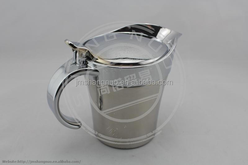 Unique Stainless Steel Gravy Boat with Lid