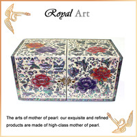 Luxury Jewelry Box with Mother of pearl inlaid; DO-916