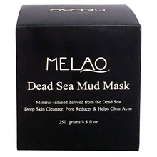 Best Melao 250g Private Label Organic Purifing body Naturals Dead Sea Mud Mask face Facial deeping Cleanser