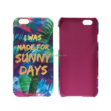 Factory Water Transfer rubber matte Custom cell phone print case for iphone 7