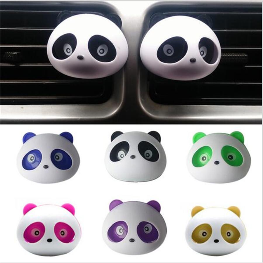 Car-styling Panda Car Perfumes 100 original 5ml Solid Air Freshener OEM Air Conditioning Vent Flavoring In the Car parfums