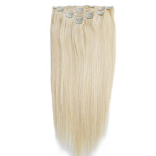 Alibaba Best Selling 7a grade clip in hair extensions human hair straight cheap clip in real hair extensions